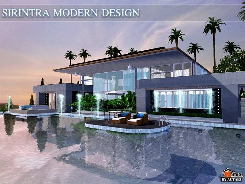 Surprising modern house design the sims 4 pictures for Sims 4 modern house plans