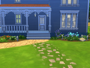 Sims 4 — Drummond W2741 by cashynia — Country charm for Sims with kids, this version of the Drummond floorplan features
