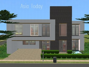 Sims 2 — Asia Today by millyana — Here is an ultra modern house with a touch of Asia decor and landscaping. Your sims