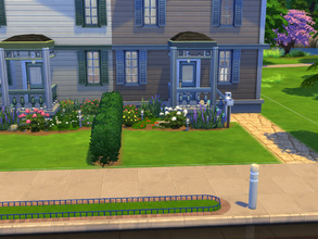 Sims 4 — Twin house by cashynia — Side by side, these twin homes are perfect for Sims just starting out - instant