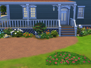Sims 4 — Drummond W2590 by cashynia — Simple country style home featuring three bedrooms, one full bathroom and one half