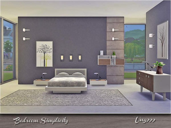 Ung999 39 s bedroom simplicity for Bedroom designs sims 4