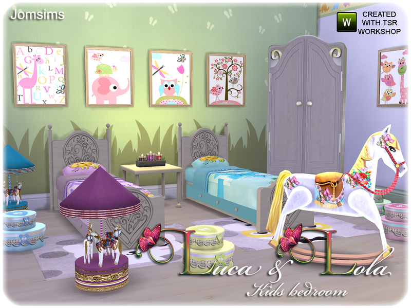 jomsimsu0026#39; Kids bedroom Luca u0026 Lola