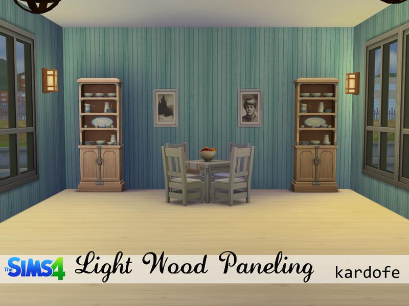 Kardofe walls light wood paneling