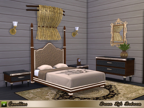 Sims 4 — Dream Life Bedroom by Canelline — A vintage and luxurious style for this bedroom, because Sims also need to feel