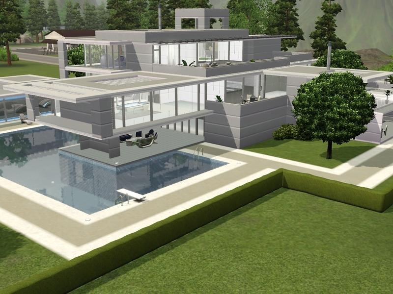 RamboRocky90s Large Futuristic Mansion