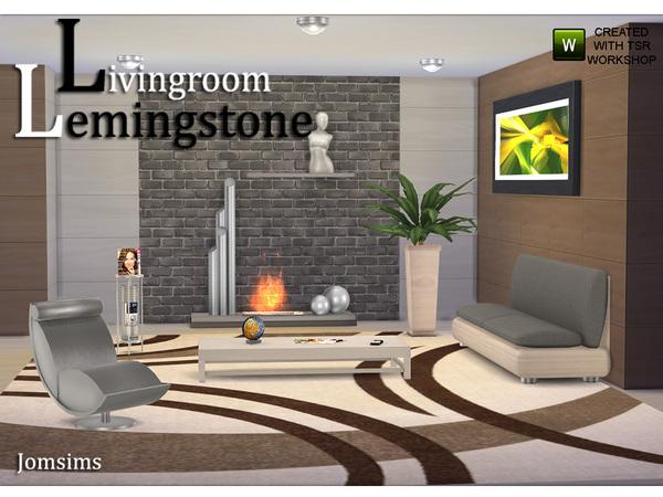 Jomsims 39 living room lemingstone for Sims 4 living room ideas
