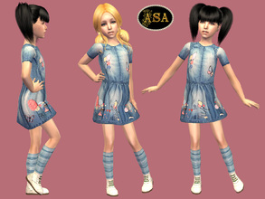 Sims 2 — ASA_Dress_208_CF by Gribko_Sveta — Jeans dress for the child of girl TS2