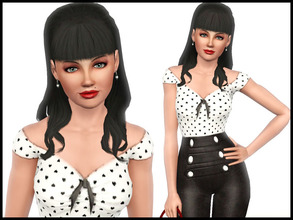 Sims 3 — Isabella Fontane by Witchbadger — Traits: Charismatic Diva Dramatic Flirty Great Kisser Likes: Cookies, Spooky