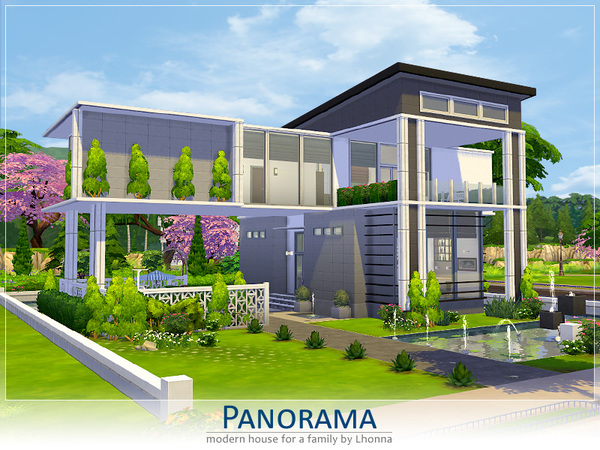 Casa moderna panorama the sims 4 pirralho do game Casas modernas sims 4 paso a paso