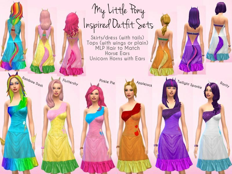 cocobuzz s my little pony inspired outfit set