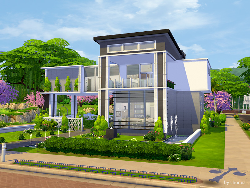 Lhonna 39 s panorama for Casas modernas the sims 4