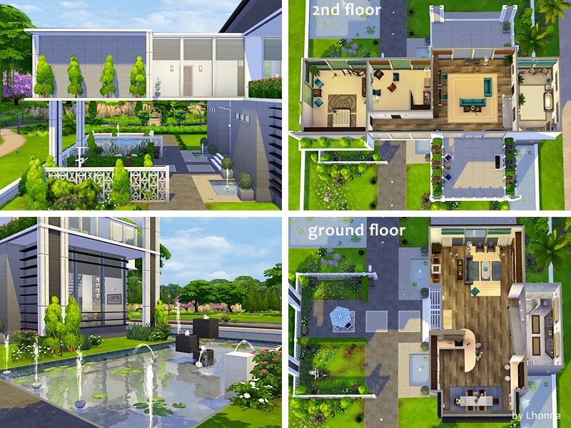 Lhonna 39 s panorama for Sims 4 modelli di casa moderna