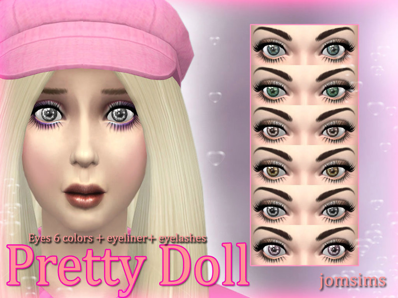 Jomsims Pretty Doll Eyes Eyeliner Eyelashes Eyeshadows