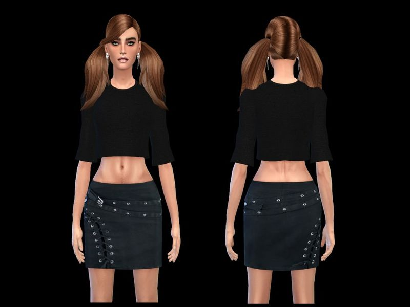 sweetsims4's rocker miniskirt