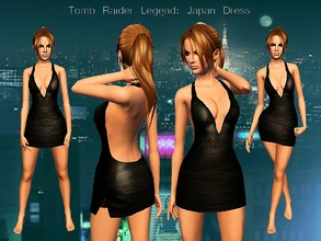 Sims 3 — Tomb Raider Japan Dress by karakratm — My own take on the dress worn in the Japan level of Tomb Raider legend.