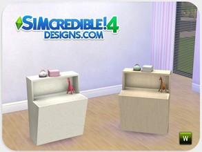 Sims 4 — Dolls House End table by SIMcredible! — As our girls were missing this set, we recreated it now for sims 4 ^^ by