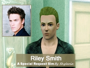 Sims 3 — Riley Smith by Shylaria — Riley Bryant Smith is an American actor and singer for the band The Life of Riley. He