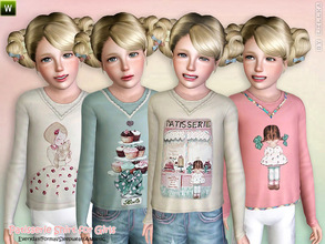 Sims 3 — Patisserie Shirt by lillka — Cute Patisserie Shirt for Girls Everyday/Formal/Sleepwear/Athletic 4