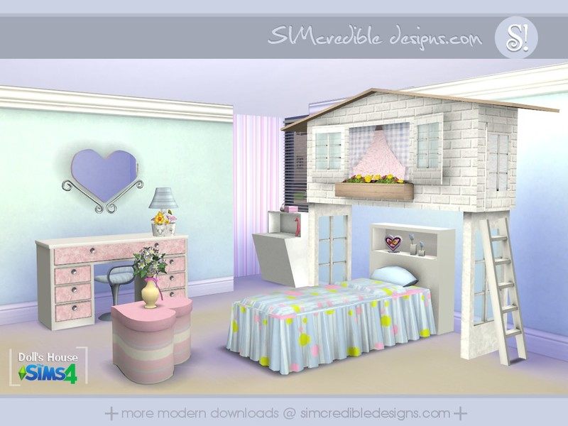 Simcredible 39 s dolls house for Bedroom design simulator free