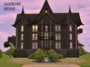 Sims 3 — Caliginous Estate by Prickly_Hedgehog — This dark, but surprisingly luxurious, 3 bedroom, 4 bathroom estate