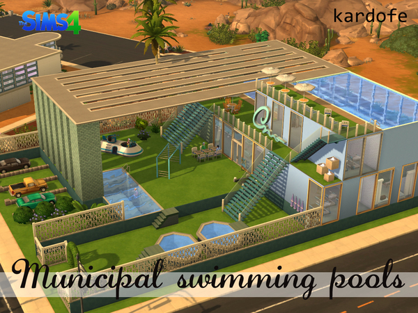 Kardofe 39 s municipal swimming pools for Pool designs sims 4