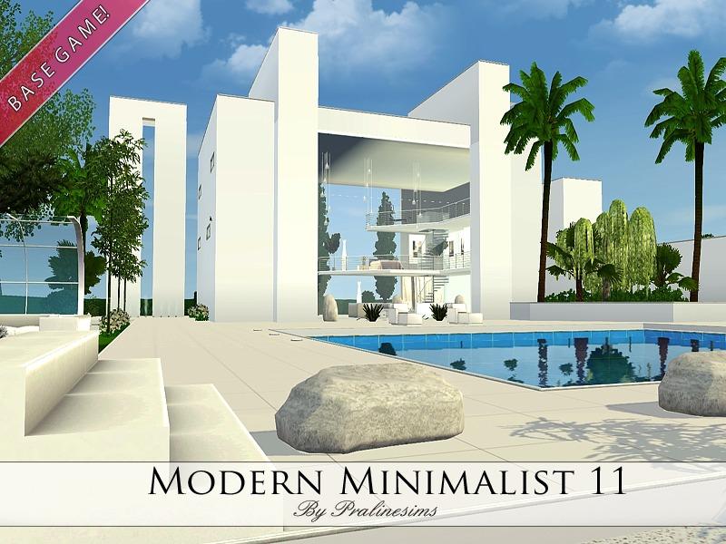 Pralinesims 39 modern minimalist 11 for Minimalist house sims 2