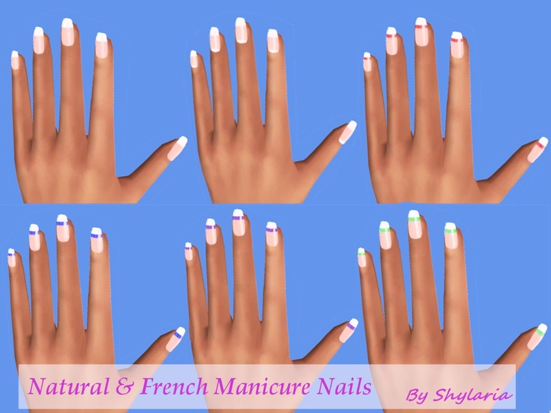 Shylaria\'s Natural and French Manicure Nails - Mesh needed