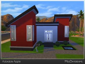 Sims 4 — Adorable Apple [Starter] by MissDaydreams — Adorable Apple is a modern starter house with 1 bathroom and 1