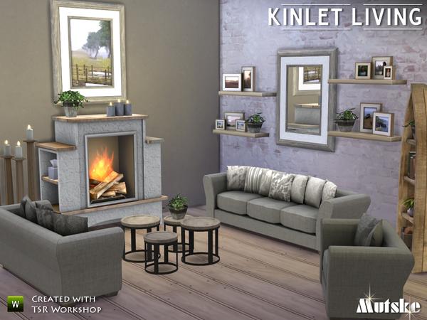 Mutske 39 s kinlet living for Salon moderne sims 4