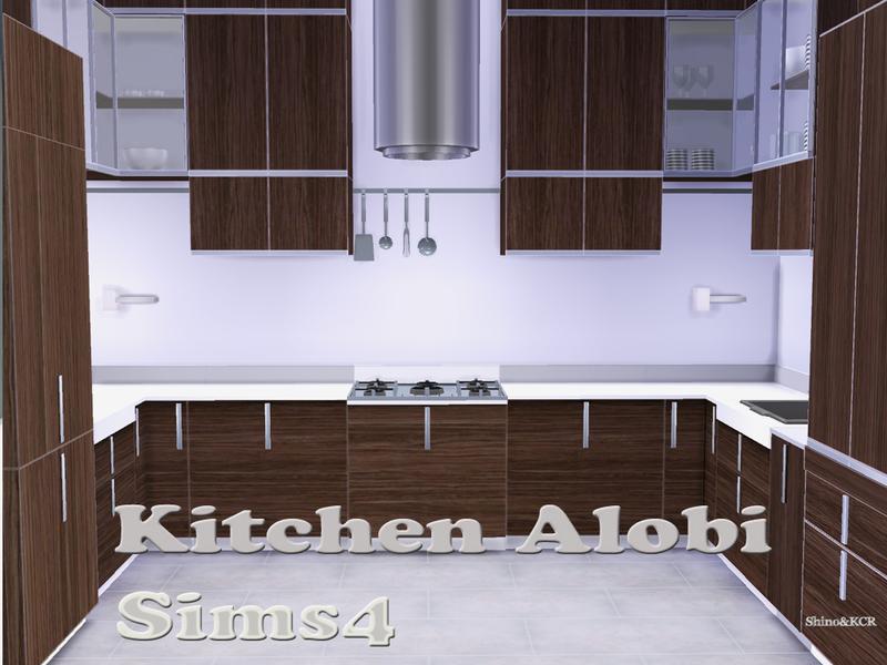 Shinokcr 39 s kitchen alobi for Kitchen set sims 4