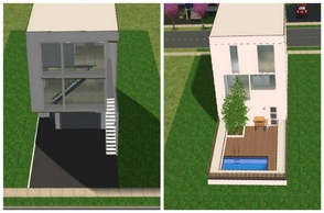 Sims 2 — White Modern Townhouse by M4Mysterious2 — A modern townhouse for your sims. Enjoy!