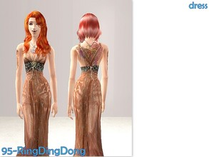 Sims 2 — 95-RingDingDong - fall dress by Well_sims — Beautiful fall designer dress for your sim. Only dress.