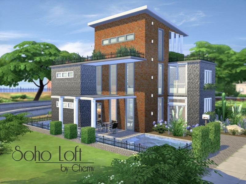 Chemy 39 s soho loft for Best house designs sims 4
