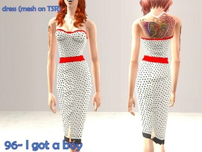 Sims 2 — 96-I got a boy by Well_sims — Beautiful black and white polka dots dress for you.