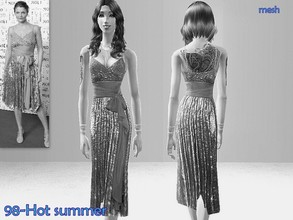 Sims 2 —  Mesh Simchic midcalf dress 5-02-05 by Well_sims — Mesh for you.