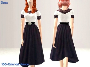 Sims 2 — 100-One last dance - only dress by Well_sims — Beautiful black and white dress for you. Only dress.
