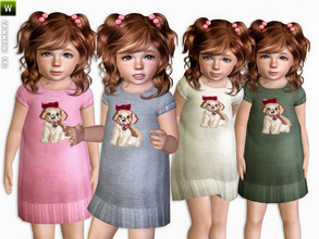 Sims 3 — Sweater - Dress for Toddler by lillka — Sweater Dress for Toddler Girls Everyday/Formal/Sleepwear 4