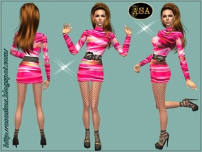 Sims 2 — ASA_Dress_250_AF by Gribko_Sveta — Short dark pink dress for women TS2