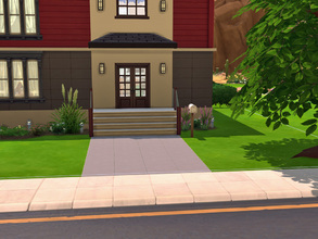 Sims 4 — Modern Square House by cashynia — A house based on plan Dessin Drummond 3714. You have 2 stories house. On the