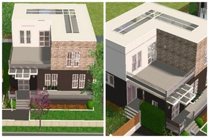 "Sims 2 — Modern Cube House by M4Mysterious2 — Another family house, smaller than my ""blue traditional house\"""
