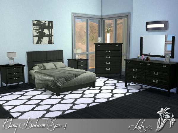Lulu265 39 S Ebony Bedroom Sims 4