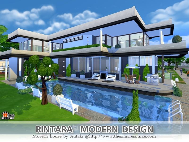Autaki 39 s rintara modern design for Modern house design sims 4