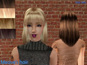 Sims 2 — Hair 004-Meave hair set by Well_sims — Beautiful hair in 5 color (Brown,platinum blonde,dirty blonde,blonde and