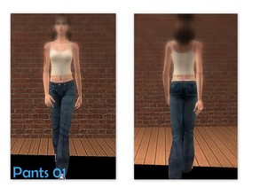 Sims 2 — Pants 01 by Well_sims — Beautiful blue jeans for your sim.