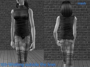 Sims 2 —  Serasims Upendedbermudapantswithstiletosandloosy  by Well_sims — Mesh for you.
