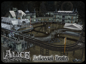 Sims 3 — Infernal Train Community Lot by murfeel — All aboard! This strange eatery was converted from a train converted