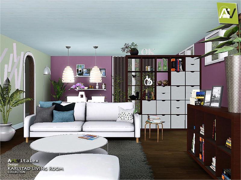 Artvitalex 39 s karlstad living room for Sims 4 living room ideas