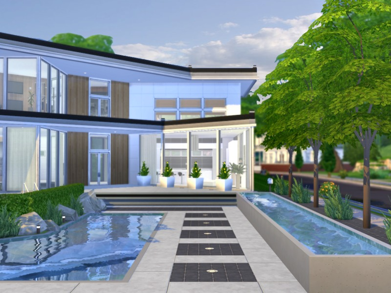 Chemy 39 s xena modern for Sims 4 modern house plans