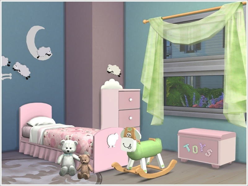 Severinka 39 s kids room 39 baby sheep 39 for Sims 3 chambre bebe